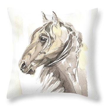 Throw Pillow featuring the painting Horse Thomas My Love by Go Van Kampen
