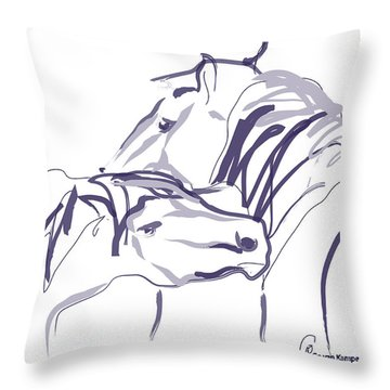 Horse - Together 10 Throw Pillow
