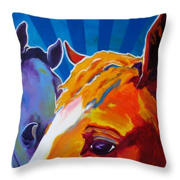 Horse - We Come In Peace Throw Pillow by Alicia VanNoy Call