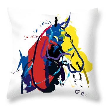 Horse- Zam Throw Pillow by Go Van Kampen