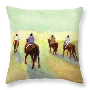 Horseback Riders Throw Pillow