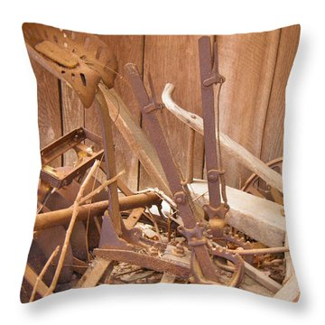 Throw Pillow featuring the photograph Horsedrawn Disc by Nick Kirby