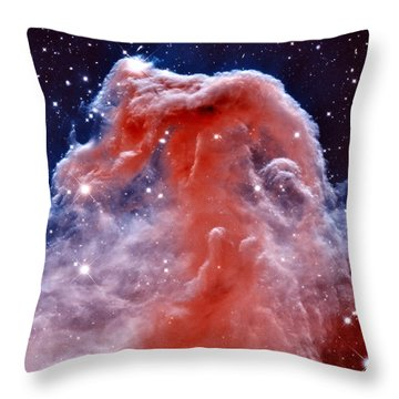 Horsehead Nebula Throw Pillow by Benjamin Yeager