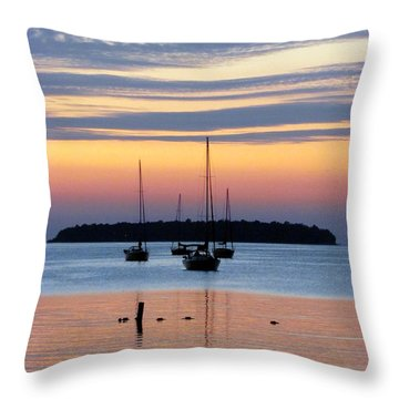 Horsehoe Island Sunset Throw Pillow