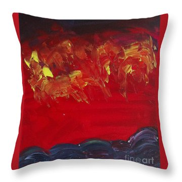 Horsemen Throw Pillow