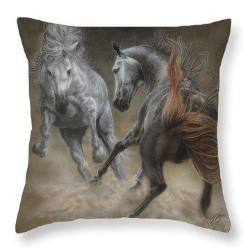 Horseplay II Throw Pillow