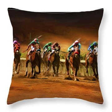 Horse's 7 At The End Throw Pillow