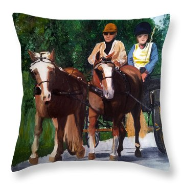 Sunday Afternoon Drive Throw Pillow