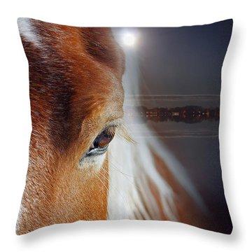 Horses  Throw Pillow by Mark Ashkenazi