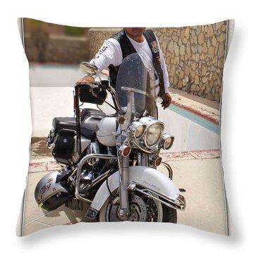 Horses Of Iron2 Throw Pillow by Walter Herrit