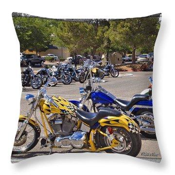Horses Of Iron24 Throw Pillow by Walter Herrit