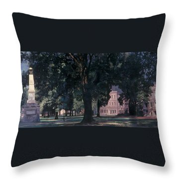 Horseshoe At University Of South Carolina Mural Throw Pillow