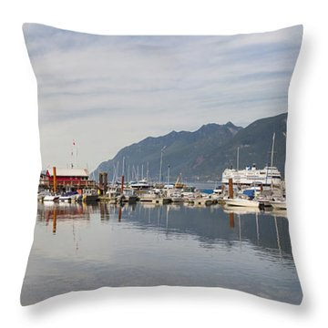 Throw Pillow featuring the photograph Horseshoe Bay Vancouver Bc Canada by JPLDesigns