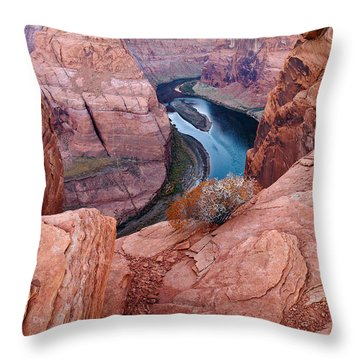 Throw Pillow featuring the photograph Horseshoe Bend At Dawn by Mae Wertz