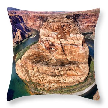 Horseshoe Bend In Arizona Throw Pillow