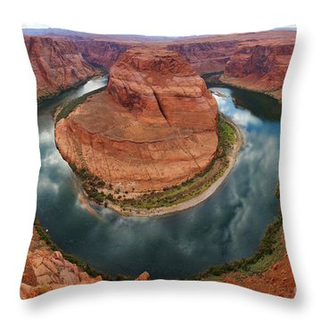 Horseshoe Bend In Page Throw Pillow