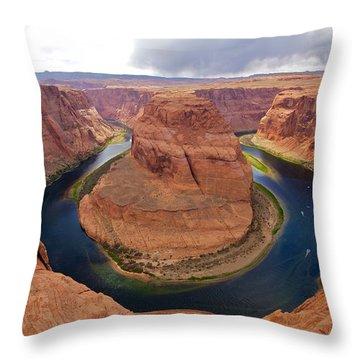 Horseshoe Bend View 1 Throw Pillow