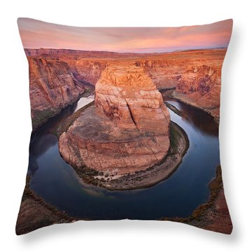 Horseshoe Dawn Throw Pillow by Mike  Dawson