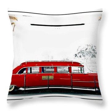 Horseshoe Fleetwood Cadillac Limousine Throw Pillow
