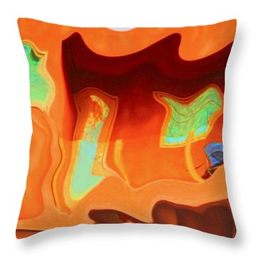 Throw Pillow featuring the photograph Horseshoe Gambler by Nick David