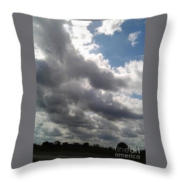 Horsetail Clouds Throw Pillow