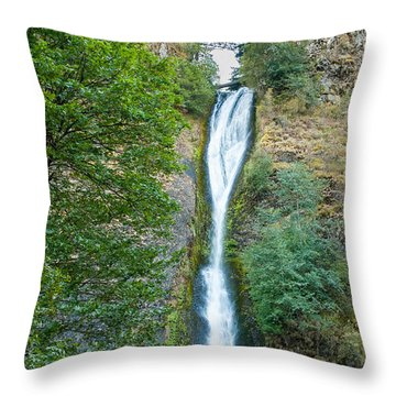 Horsetail Falls Throw Pillow by John M Bailey