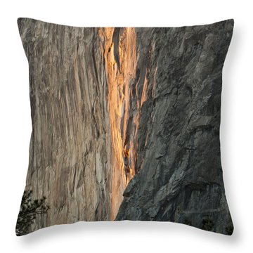 Horsetail Falls Sunset Throw Pillow by Patricia Sanders