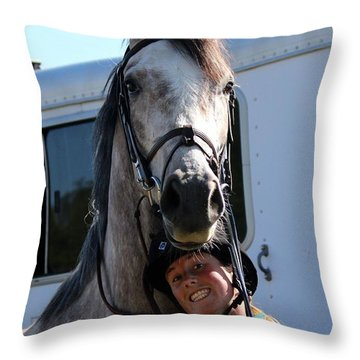 Horsin' Around Throw Pillow