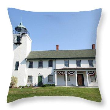 Throw Pillow featuring the photograph Horton's Point  by Karen Silvestri