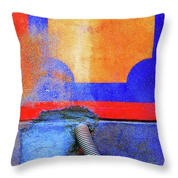 Throw Pillow featuring the photograph Hosed by Newel Hunter