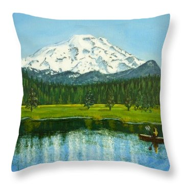 Hosmer Lake Throw Pillow