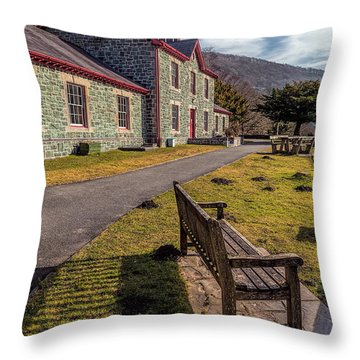 Hospital Bench  Throw Pillow by Adrian Evans