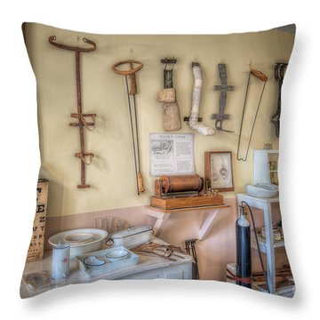 Hospital Museum Throw Pillow by Adrian Evans