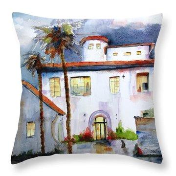 Hospitality House Throw Pillow by Carlin Blahnik