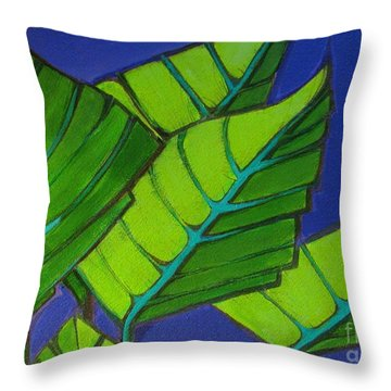 Hosta Blue Tip One Throw Pillow