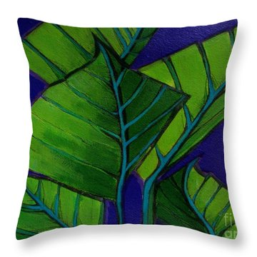 Hosta Blue Tip Two Throw Pillow