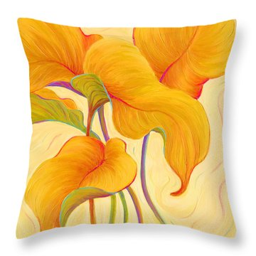 Hosta Hoofers Throw Pillow