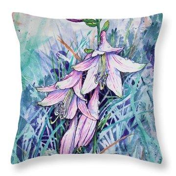 Hosta's In Bloom Throw Pillow
