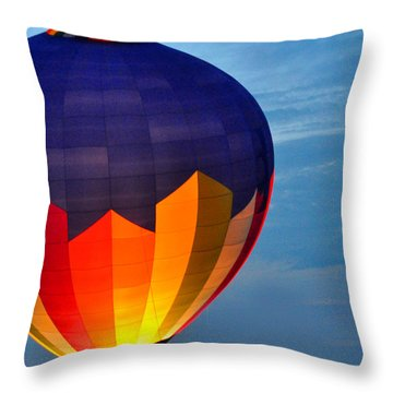 Hot Air Balloon Throw Pillow by Diane Lent
