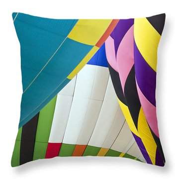 Hot Air Balloon Throw Pillow by Marcia Colelli