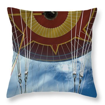 Hot Air Baloon Throw Pillow