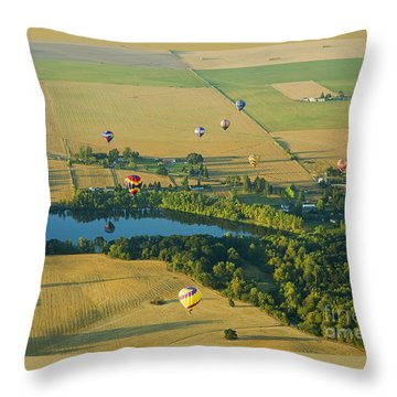 Throw Pillow featuring the photograph Hot Air Reflection by Nick  Boren