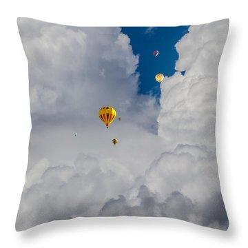 Throw Pillow featuring the photograph Hot Air Rising by Dennis Bucklin