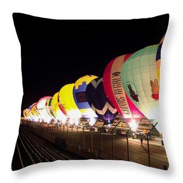 Balloon Glow Throw Pillow by John Swartz