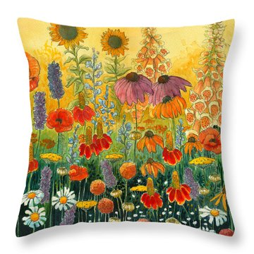 Hot And Hazy Throw Pillow by Katherine Miller