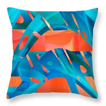 Hot Blue Throw Pillow