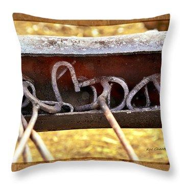 Hot Branding Irons Throw Pillow by Kae Cheatham
