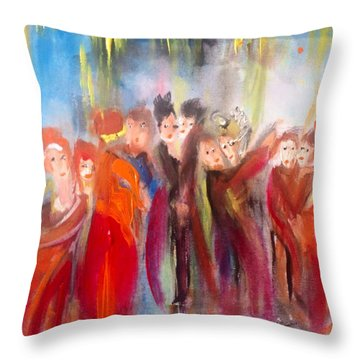 Hot Christmas Polka Throw Pillow