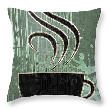Hot Coffee Throw Pillow by David G Paul