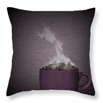 Throw Pillow featuring the photograph Hot Coffee by Gert Lavsen